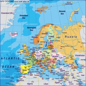 Europakart Med Hovedsteder Norsk Isaacmork41